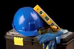 Safety gear kit Stock Photo