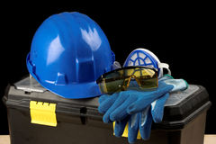 Safety gear kit Royalty Free Stock Images