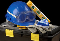 Safety gear kit Stock Images