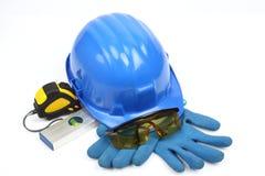 Safety gear kit close up Stock Photos