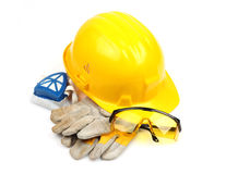 Safety gear kit close up Stock Photo