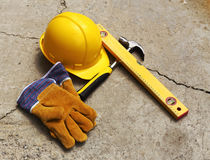 Safety gear kit. Close up Royalty Free Stock Photo
