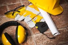 Safety gear kit close up Stock Photo