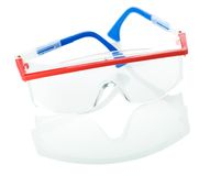 Safety glases isolated Royalty Free Stock Photo