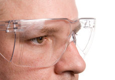 Safety Glasses. Personal protective equipment known as safety glasses Royalty Free Stock Photos