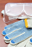 Safety Glasses And Gloves Royalty Free Stock Images