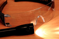 Safety glasses, goggles. Royalty Free Stock Photos