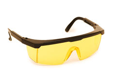Safety glasses isolated on the white background. Safety glasses isolated  on the white background Stock Images
