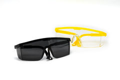 Safety Glasses isolated Stock Images