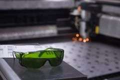 Safety laser glasses Royalty Free Stock Photo