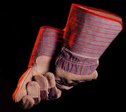 Safety Gloves. Isolated image of a pair of safety gloves Stock Photography