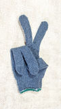 Safety gloves Grey Stock Image