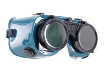 Safety goggles. Welder's safety goggles over white Royalty Free Stock Photography