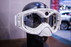 Safety goggles on plastic head Stock Photography