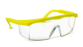 Safety goggles. Plastic safety goggles isolated on white Stock Image