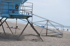 Safty-guard seashore attention takecare stock image