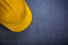 Safety hard hat on black background construction concept Stock Photography