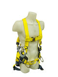 Safety harness equipment. Mannequin in safety harness equipment on a white background Royalty Free Stock Image