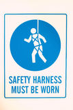 Safety Harness Sign Stock Photo