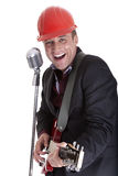 Safety hat singer Royalty Free Stock Photos