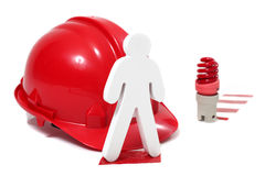 Safety in a hazardous workplace Royalty Free Stock Photography
