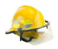 Safety helmet isolated on white. Safety helmet for fireman or firefighter where safety comes first, the image isolated on white Stock Images
