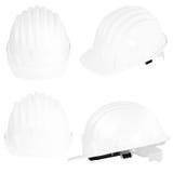 Safety helmet. Plastic safety helmet on white background Stock Image