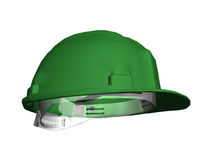 Safety helmet. Computer image, safety helmet 3D, isolated white background Royalty Free Stock Photo