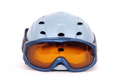 Safety Helmet. A safety helmet and goggles Royalty Free Stock Photo