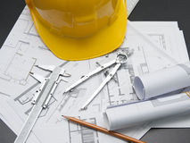 Safety helmet building Stock Image