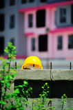 Safety helmet in construction place Royalty Free Stock Photos