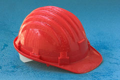 Safety helmet with drops Royalty Free Stock Photo