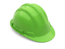 Safety Helmet green. ( on white and clipping path Royalty Free Stock Image