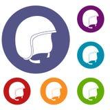 Safety helmet icons set Royalty Free Stock Photos