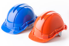 Safety helmet. Isolated on white background Royalty Free Stock Photos