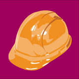 Safety Helmet Orange. Isolated on a purple background Royalty Free Stock Images