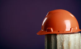 Safety helmet on a purple background Stock Photos