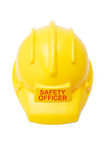 Safety helmet for safety officer Royalty Free Stock Photo
