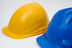 Safety helmet for workers. On white background Stock Photography