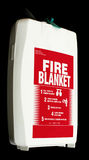 Safety in the home. A close up of a home fire blanket Royalty Free Stock Photo