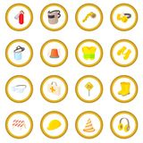 Safety icon circle Royalty Free Stock Photography