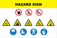 Safety icon set Royalty Free Stock Image