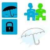 Safety - icon set Royalty Free Stock Photos