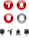 Safety icons. Stock Photography