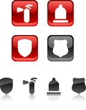 Safety icons. royalty free illustration
