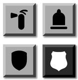 Safety icons. Stock Images