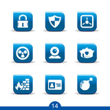 Safety icons 14..smooth series Stock Images
