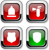 Safety icons. Royalty Free Stock Photos