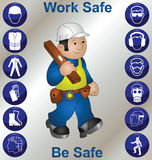 Safety icons royalty free illustration