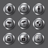 Safety icons Royalty Free Stock Photography